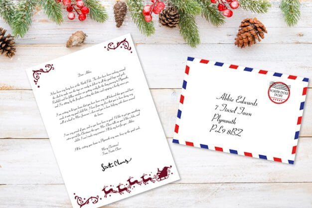 image relating to Free Printable Letter From Santa Template identified as Cost-free Printable Letter Envelope Versus Santa